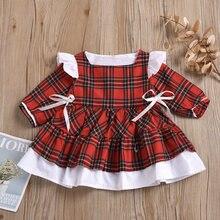 Emmaaby/Одежда для маленьких девочек рождественское Платье милое