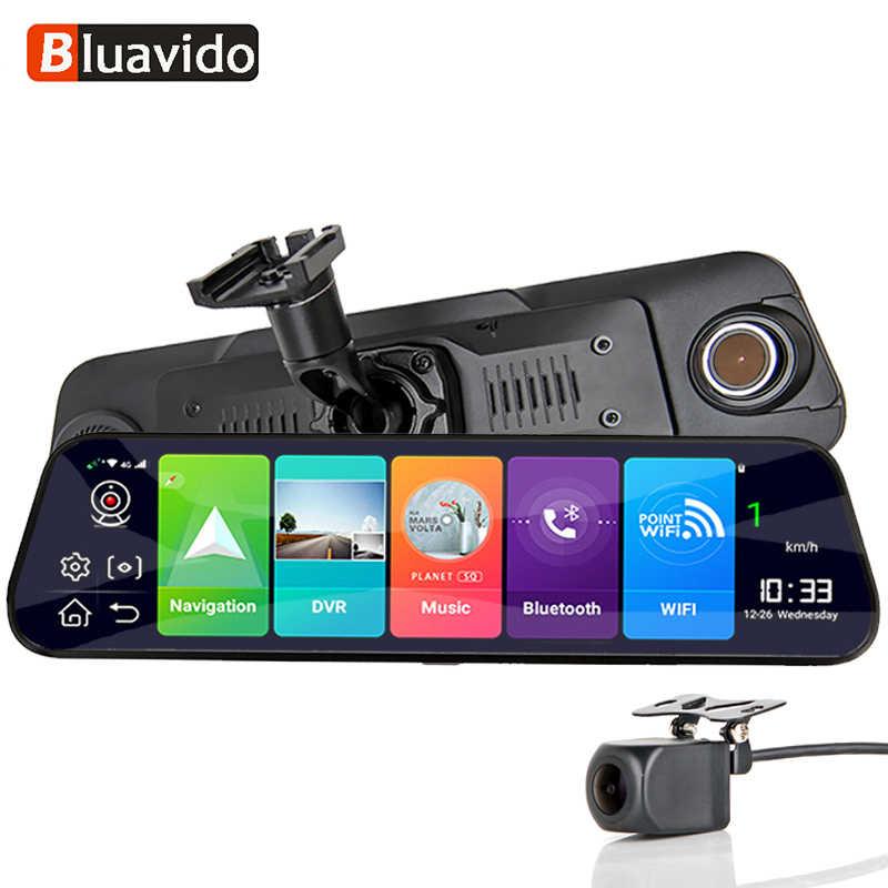 """Bluavido 日本語 12 """"IPS 車のミラー DVR GPS 2 グラム RAM 4 4g Lte の Android 8.1 カメラビデオレコーダーナビゲーション HD 1080 バックミラーダッシュカム"""