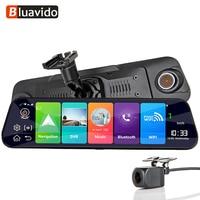 Bluavido 12 Inch 4G Car Mirror DVR GPS Navigation 2G RAM + 32G ROM Android 8.1 Dash Cam Video Recorder FHD 1080P rearview mirror