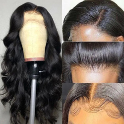 Parrucche frontali in pizzo 13x4 Body Wave capelli umani per donne prepizzicate con capelli per bambini capelli Remy brasiliani 150% dentite