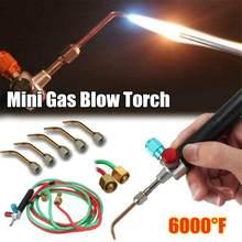 Mini Gas Blow Torch Solderen Soldeerbout Gun Zuurstof Acetyleen Sieraden Brander Set