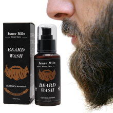 Beard Wash Mens Shampoo Deep Cleansing Nourishing Cleanser Moisturiser