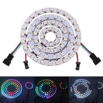 5V LED Halo Ring WS2812B RGB Light 30cm 50mm 60mm 70mm 90mm 110mm 150mm 170mm Angel Eyes Led Headlight Bulb Lamps for Car 1