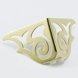 Image 2 - 4pcs 골드 패턴 금속 가구 다리 소파 발 머리핀 다리 머리 핀 다리 가구 보호 발 하드웨어 침대 라이저