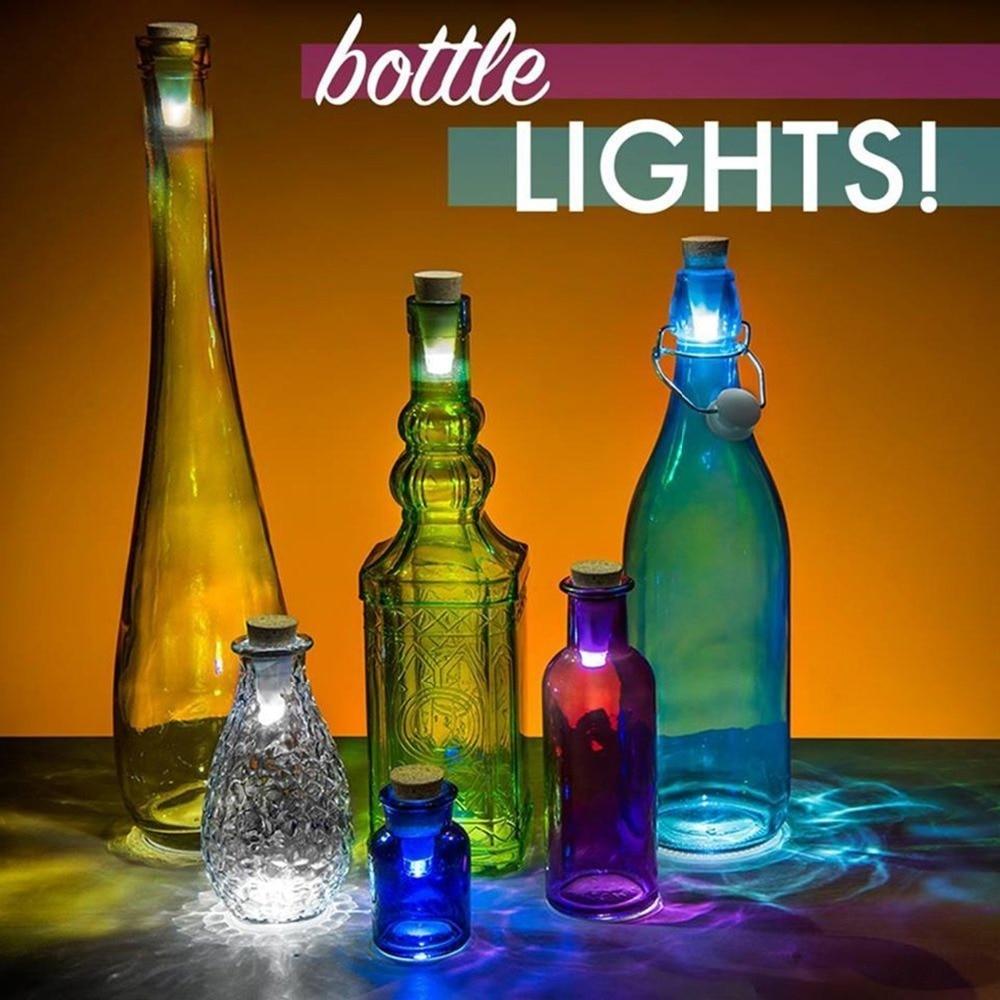 1 Piece LED USB Rechargeable Shiny Bottle Cork Stopper Cap Lamp Creative Romantic Cork Lights Festive Atmosphere Lights in LED Night Lights from Lights Lighting