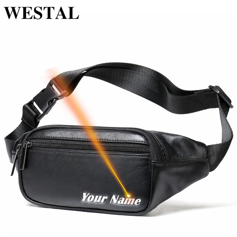 Bolsa da Cintura dos Homens para Homens Alças de Ombro para Bolsas Bolsa de Viagem Westal Cinto Couro Genuíno Pequeno Telefone Bolsas 7310
