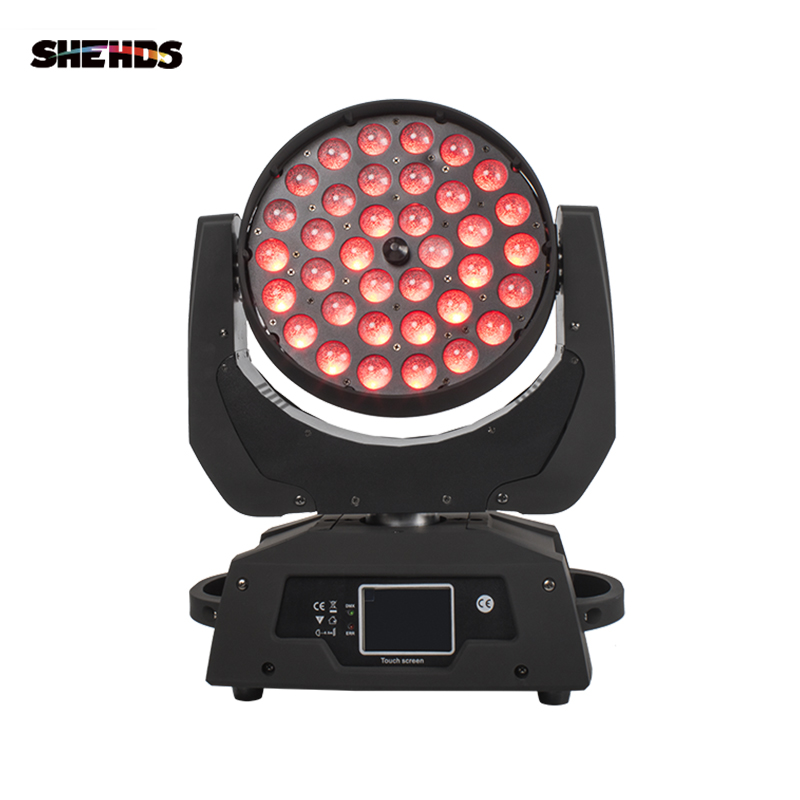 Free Shipping LED 36x18W Led Zoom Moving Head 6in1 RGBWA UV Wash DMX Controller For NightClub DJ Disco Party Wedding Decoration