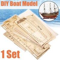 1 комплект DIY ручной работы сборочный корабль деревянная модель парусной лодки комплект корабль ручной сборки украшения подарок для детей