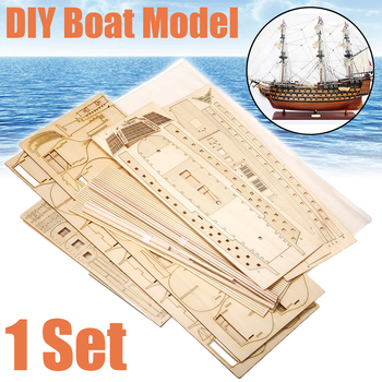 1 Set DIY Handmade Assembly Ship Wooden Sailing Boat Model Kit Ship Handmade Assembly Decoration Gift For Children solar powered boat no 3 kit diy ship model puzzle handmade material spare parts rc accessories for science education f19139
