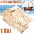 1 Set FAI DA TE Fatti A Mano di Montaggio Nave Barca A Vela di Legno Kit Modello di Nave di Assemblaggio A Mano Decorazione Regalo Per I Bambini