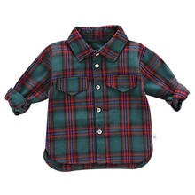 Осенние рубашки для мальчиков Одежда для маленьких мальчиков рубашки в клетку с длинными рукавами детские топы, футболки Повседневная блуза Весна