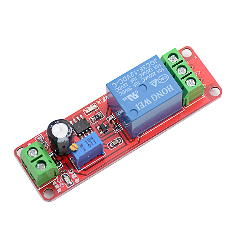 Timer Switch Adjustable NE555 Module Time Delay Relay Module DC 12V Delay Relay Shield 0~10S