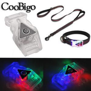 Image 3 - 2 個のカラフルなライトのグロー安全側リリース調整可能なバックルバックパックストラップベルト衣服犬首輪ウェビング部品