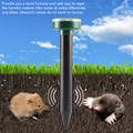 Ультразвуковой отпугиватель на солнечной батарее, устройство для отпугивания вредителей мышей, кошек, собак, Кротов, 2 шт., для двора и сада