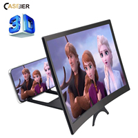 12 inch Curved Phone Screen Amplifier HD 3D Video Mobile Phone Magnifying Glass Stand Bracket Foldable Phone Holder Projector 1