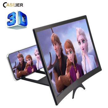 12 inch Curved Phone Screen Amplifier HD 3D Video Mobile Phone Magnifying Glass Stand Bracket Foldable Phone Holder Projector