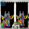The Royal Giraffe by Weer Blackout Curtains Watercolor Living Room Curtains Animal Printed Bedroom Curtains Colorful rideaux 1PC 1