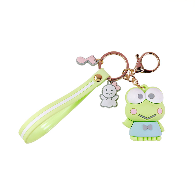 Creative Sanrio Series Cartoon My Melody Pudding Cinnamoroll Dog Keychain Trend Couple Key Chain Charm Bag Car Keyring Pendant