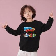 Свитшот детский с круглым вырезом повседневная спортивная одежда