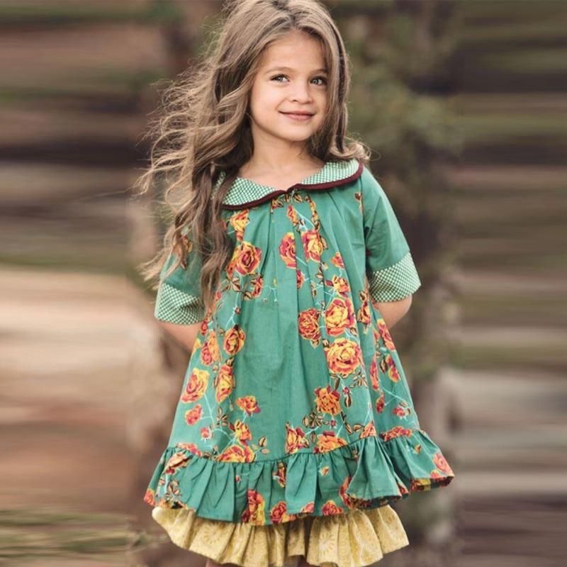 2020 crianças ins doll collar roupas meninas