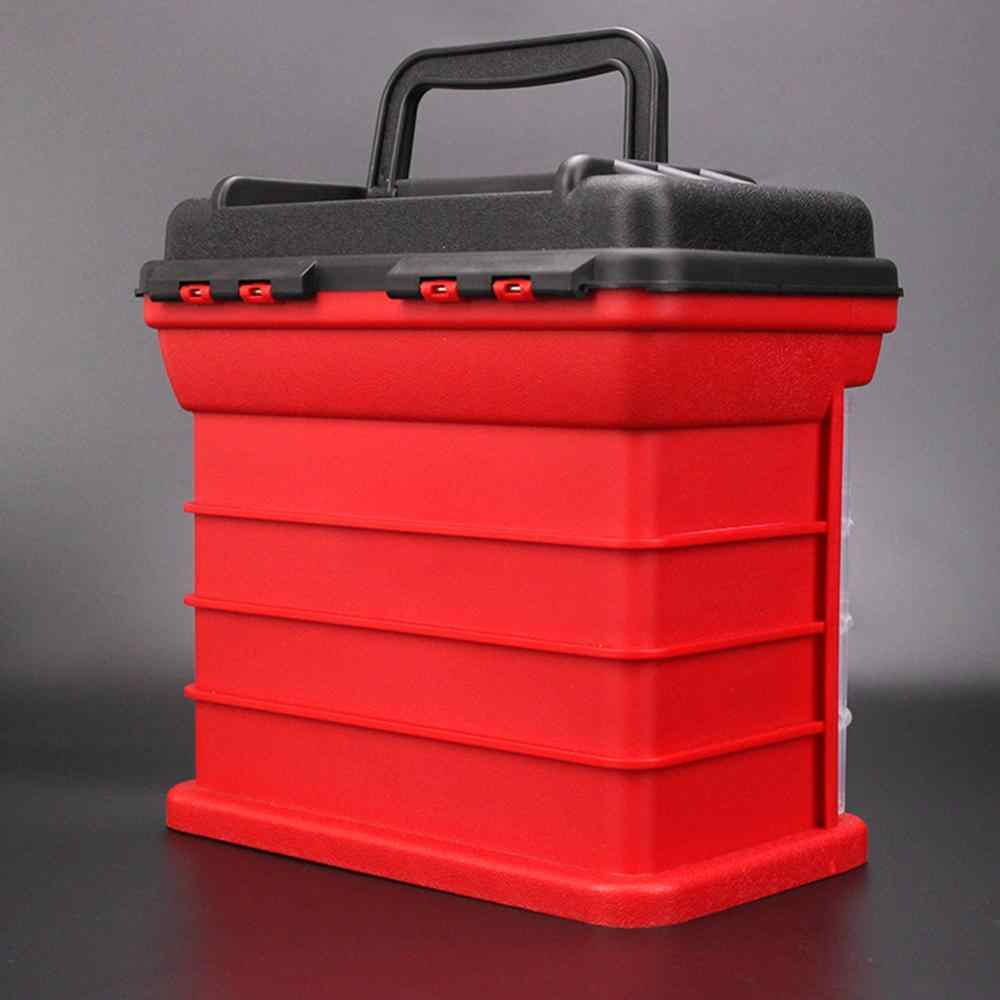 ポータブル釣りボックス多層魚ルアーコンテナボックス耐久性のある釣具収納ケース 5 層プラスチックケースオーガナイザー