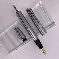 Wing Sung 601A Kolben Vacumatic Brunnen Stift Stahl Tinte Stift 14K Gold Aussetzen Nib Schreibwaren Büro schule liefert Schreiben geschenk