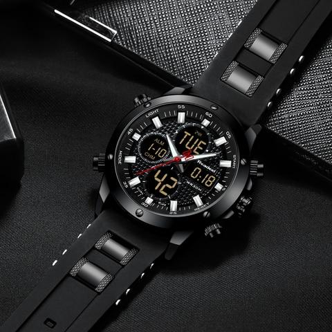 Mens Watches Top Brand Luxury Chronograph Gold Men Watch Quatz Digital Led Sport Watch Men Male Clock Man Waterproof Wristwatch Multan