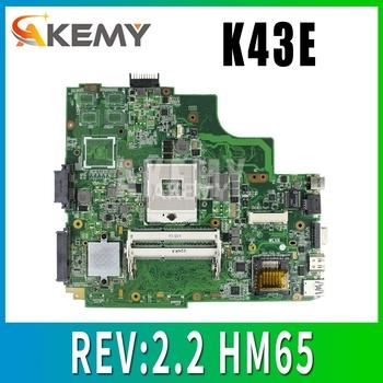 K43E płyty głównej REV 2 2 HM65 dla ASUS K43SD X43S A43S K43S laptopa płyty głównej płyta główna w K43E płyty głównej płyta główna K43E test płyty głównej OK tanie i dobre opinie Akemy Usb 3 0 SATA HDMI Ethernet Usb 2 0 PGA 989 Ddr3 DDR SDRAM Podwójne Intel 2013 Zintegrowany-trzeba obsługa CPU other