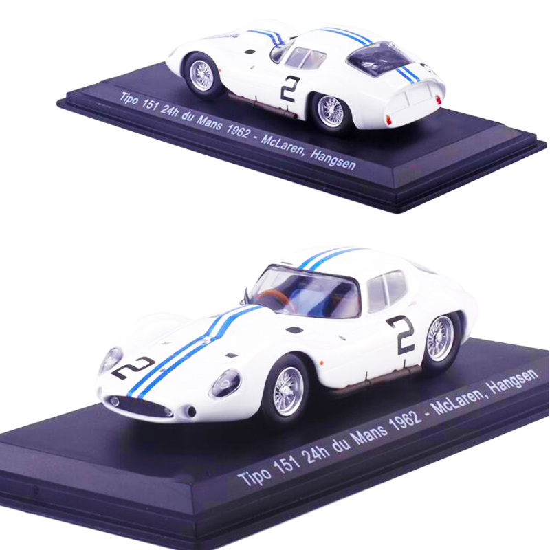 1:43 Scale Classic Hangsen Racing Rally Diecast Alloy Car Model F Collection Display with Transparent Cover Matel Vehicles Toys