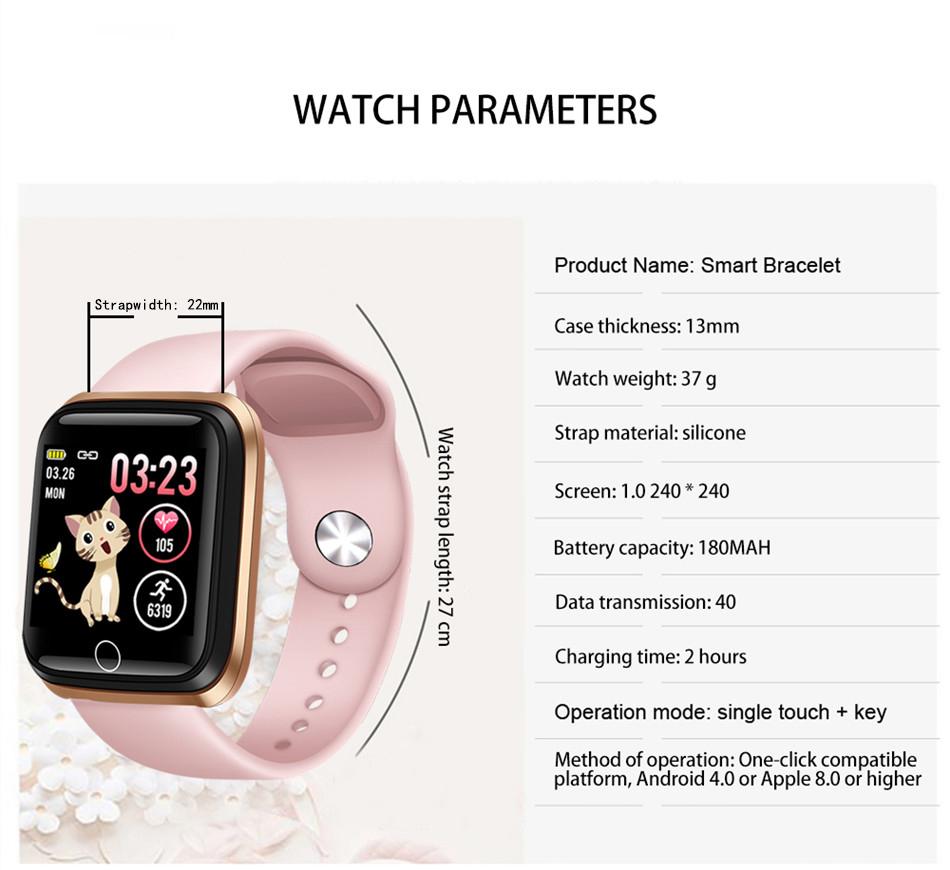 Reloj inteligente LIGE pulsera deportiva IP67 11