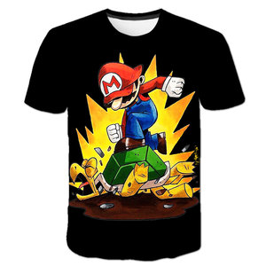 Cartoon Super Mario Bros With Luigi Children Funny T-shirt Baby Boys T shirt Kid Girls Tops Tee Casual Clothes Birthday Gifts