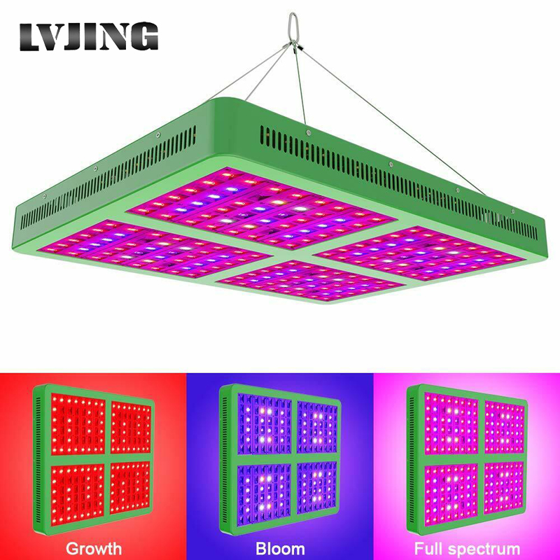 LVJING Reflector 300W 600W 1200W 1800W LED Grow Light Full Spectrum Veg/Bloom Switchable for Indoor Greenhouse Plants Phytolamp