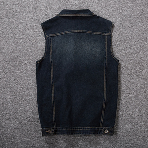 Image 5 - בתוספת גודל 8XL 7XL 6XL 5XLCotton ללא שרוולי מעיל אפוד גברים ג ינס ג ינס אפוד זכר קאובוי בחוץ חזיית Mens מעילים
