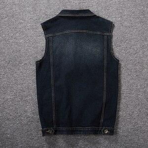 Image 5 - Plus ขนาด 8XL 7XL 6XL 5XLCotton กางเกงยีนส์เสื้อกั๊กเสื้อแขนกุดผู้ชาย Denim กางเกงยีนส์เสื้อกั๊กคาวบอยชายกลางแจ้ง Waistcoat บุรุษแจ็คเก็ต