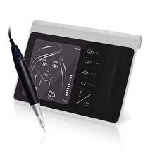Máquina de tatuagem multifuncional caneta kit lábio sobrancelha microblading maquiagem permanente dispositivo beleza tatuagem caneta kit controle arma