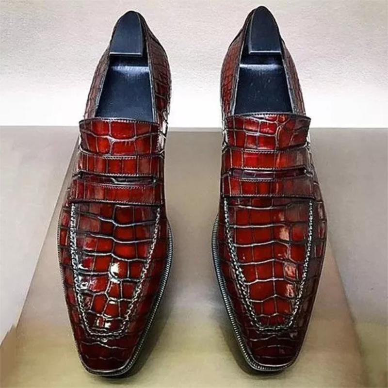 Sapatos masculinos feitos à mão de alta