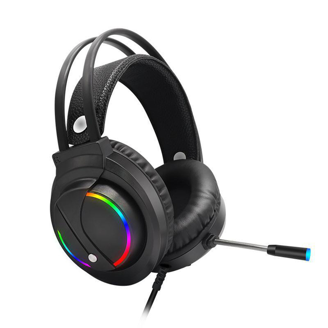 RGB USB Wired Headset 7 1 Sound USB Wired Headset Over-Ear Gaming Headphone w Microphone for E-Sports Games