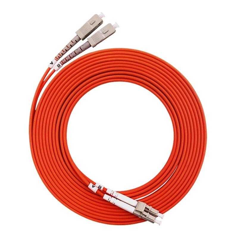 5 шт./лот LC/UPC-SC/UPC Волоконно-оптический патч cordDuplex многомодовый кабель LC-SC волоконно-оптический джемпер