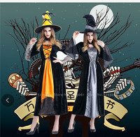 Masquerade Helloween Witch Mage Cosplay Magician Caps Hats Theme Party Dress Pumpkin Devil Ghost Vampire Specter Scary Costumes