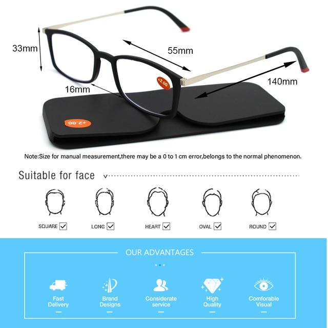 Фото ультралегкие очки для чтения kaedek мужчин и женщин небьющиеся