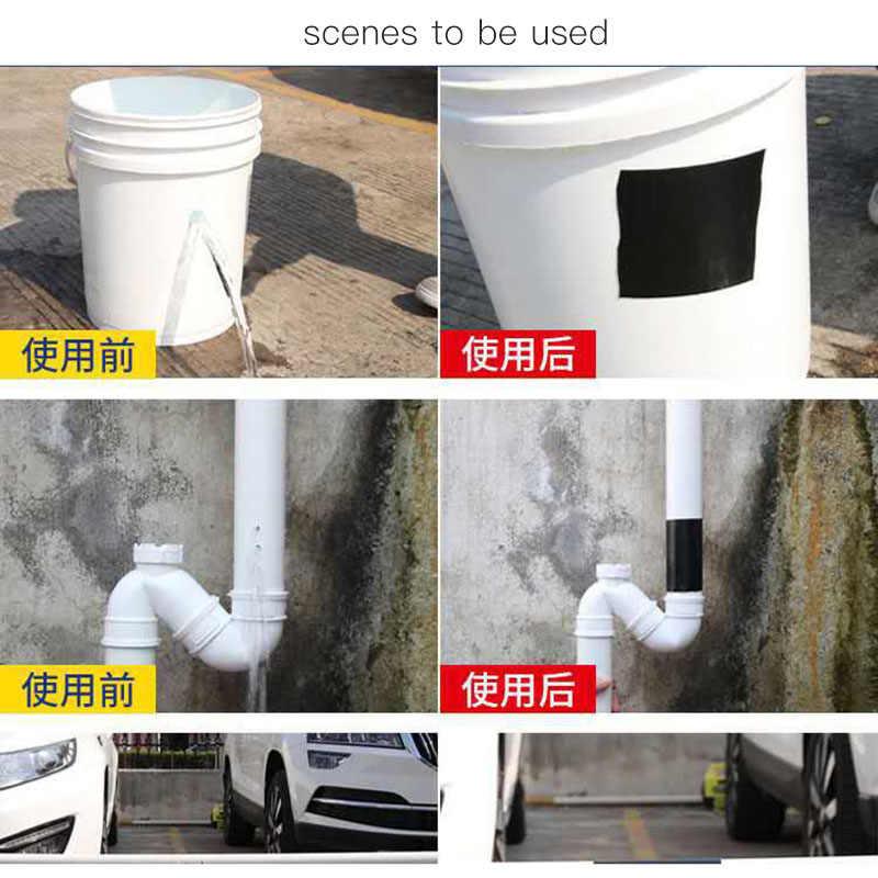Super Kuat Serat Pita Tahan Air Menghentikan Kebocoran Segel Perbaikan Tape Kinerja Self Memperbaiki Tape Pita Perekat