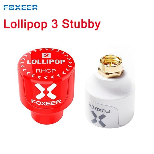 2 sztuk Foxeer Lollipop 3 2.5DBi Stubby 5.8G Omni FPV antena LHCP/RHCP dla zdalnie sterowanych modeli multicoptera gogle części zamienne biały czerwony
