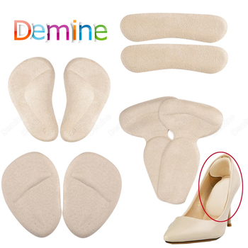 soumit 5 pair heel pad wear resistant fashion heel protector foot adhesive liner pads pain relief cushion for women shoe sole Silicone Heel Protector Pads for Women High Heels Liner Grips Adhesive Shoe Heel Insert Arch Support Cushion Pad Foot Care Set