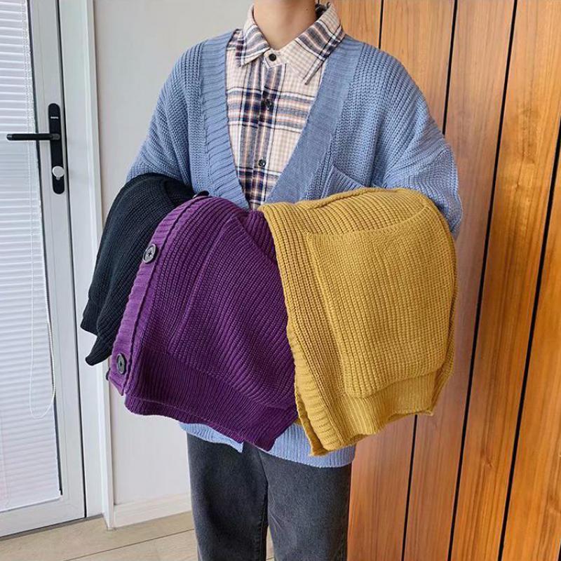 2020 Mens Cardigan Sweater Coat Autumn Winter Warm Thick Turtleneck Knitting Jumper Sweaters Male Coats Oversize Men Clothing