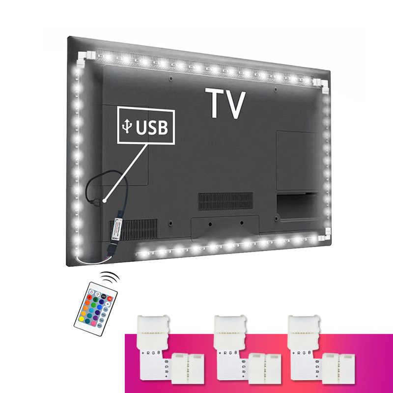 5V USB الطاقة RGB 5050SMD LED قطاع ضوء النيون DIY HDTV إضاءة خلفية للتلفاز التحيز الإضاءة PC شاشة مكتب الديكور مصباح 1M 2M 3M