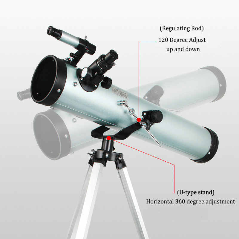 F76700 350 مرة HD تلسكوب الفلك حامل ثلاثي القوائم احترافي التكبير أحادي العين عاكسة لمراقبة كوكب الفضاء