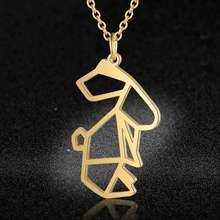 Vnistar Unique Necklaces Amazing Quality 100% Stainless Steel Animal Rabbit Necklace for Women Fashion Hare Jewelry Special Gift(China)