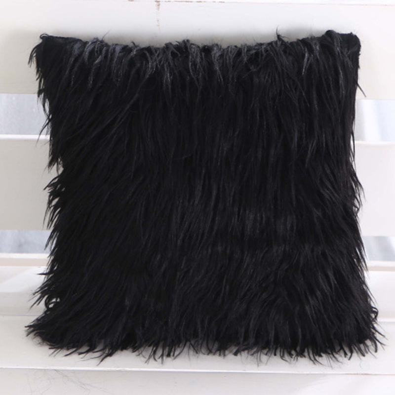 Square Nordic Plush Pillowcase Fluffy  Fur Cushion Cover Princess Room Throw Pillow Wool Cushions Sofa Bed Pillow Case Pillow Case     - title=