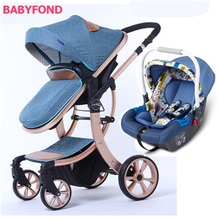 EU safety 3 in 1 baby strollers Strong suspension fashion de
