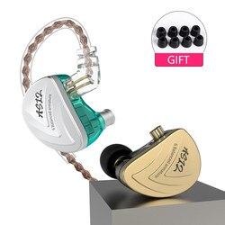 AK KZ AS12 12BA Balanced Armature In Ear Earphone HIFI Running Sport Earphone Earplug Headphone KZ ZS10 ZSN PRO ZS6 ZST ZS5 ZS7